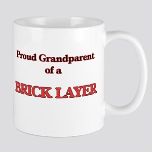 Proud Grandparent of a Brick Layer Mugs