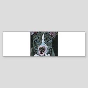 Blue Pitbull Dog Bumper Sticker