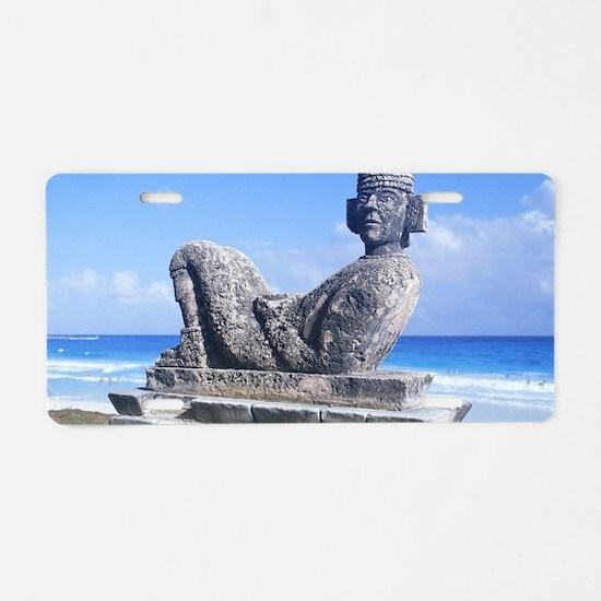Cute Aztec Aluminum License Plate