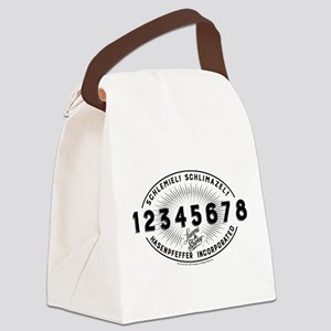 Laverne and Shirley Numbers Desig Canvas Lunch Bag