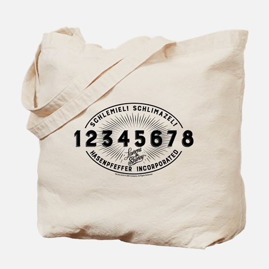 Laverne and Shirley Numbers Design Tote Bag