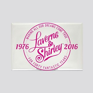 Laverne And Shirley Logo Design Rectangle Magnet