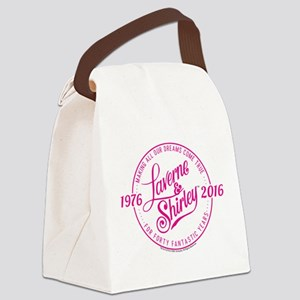 Laverne And Shirley Logo Design Canvas Lunch Bag