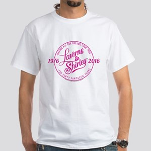 Laverne And Shirley Logo Design White T-Shirt