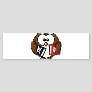 Studious Owl Bumper Sticker