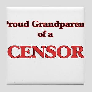 Proud Grandparent of a Censor Tile Coaster