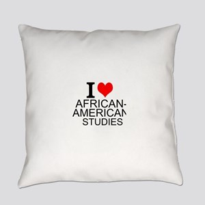 I Love African-American Studies Everyday Pillow