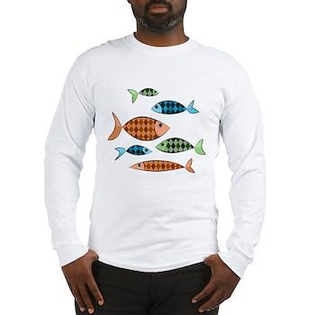 Argyle Fish Long Sleeve T-Shirt