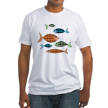 Argyle Fish Fitted T-Shirt