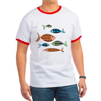 Argyle Fish Ringer T-Shirt