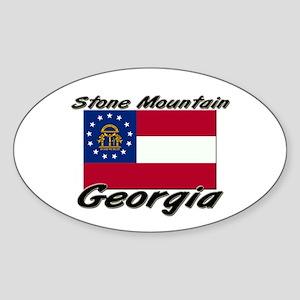 Stone Mountain Georgia Oval Sticker