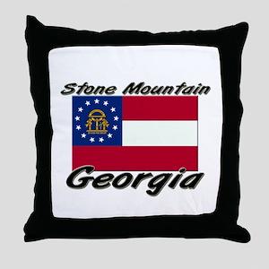 Stone Mountain Georgia Throw Pillow