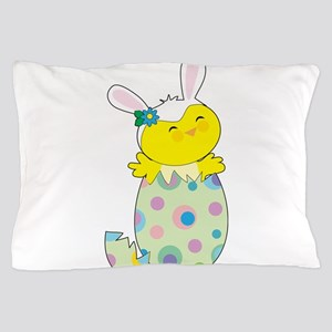 Easter Bunny Chick Pillow Case