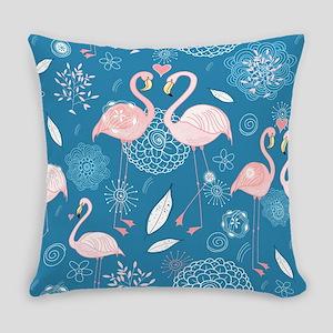 Pink Flamingos Everyday Pillow