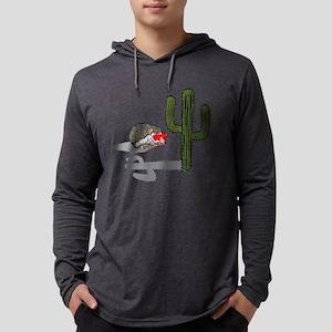 Porcupine Loves Cactus Mens Hooded Shirt