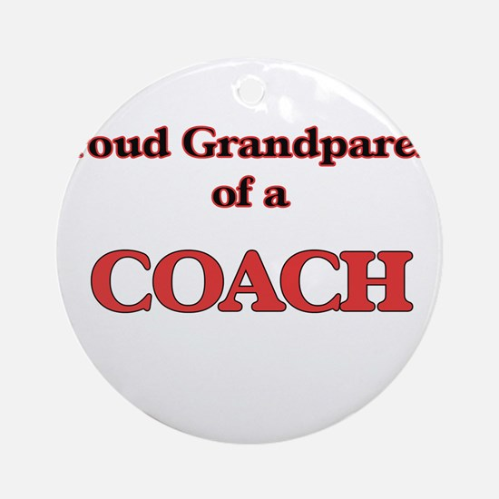 Proud Grandparent of a Coach Round Ornament