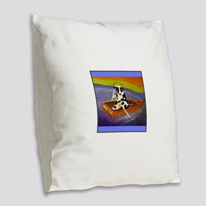 Mad Cow Burlap Throw Pillow