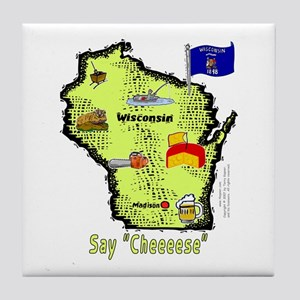 WI-Say Cheese! Tile Coaster