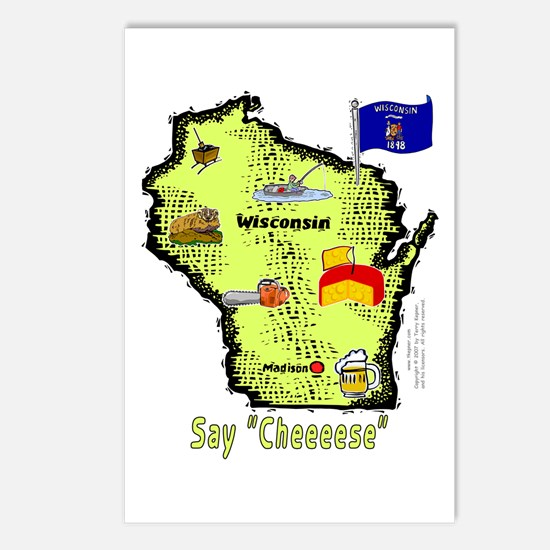 WI-Say Cheese! Postcards (Package of 8)