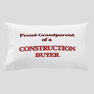 Proud Grandparent of a Construction Bu Pillow Case