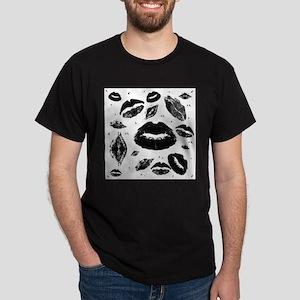 Kisses All Over (Black & White) T-Shirt
