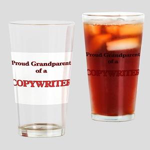 Proud Grandparent of a Copywriter Drinking Glass