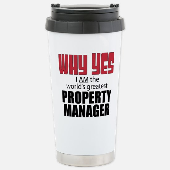 Property Manager Stainless Steel Travel Mug