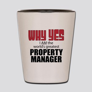 Property Manager Shot Glass