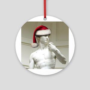 Santa David Ornament (Round)