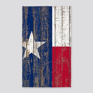 barn wood Texas Flag Area Rug