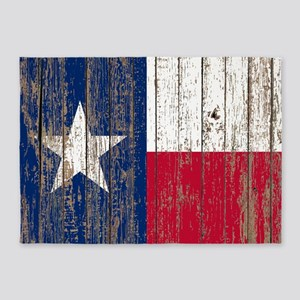 barn wood Texas Flag 5'x7'Area Rug