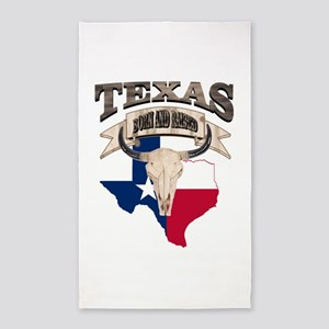 Bull Skull Texas home Area Rug