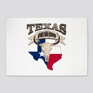 Bull Skull Texas home 5'x7'Area Rug