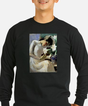 Young Vietnamese Woman with Li Long Sleeve T-Shirt