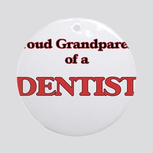Proud Grandparent of a Dentist Round Ornament