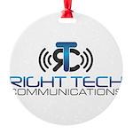 Right Tech Main Logo Round Ornament