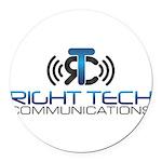 Right Tech Main Logo Round Car Magnet