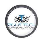 Right Tech Main Logo Wall Clock