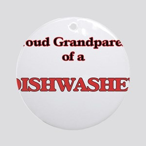 Proud Grandparent of a Dishwasher Round Ornament