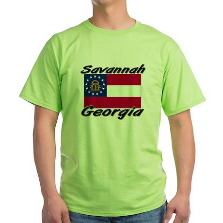 Savannah Georgia Green T-Shirt