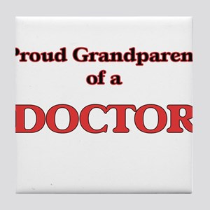 Proud Grandparent of a Doctor Tile Coaster
