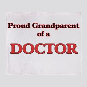 Proud Grandparent of a Doctor Throw Blanket