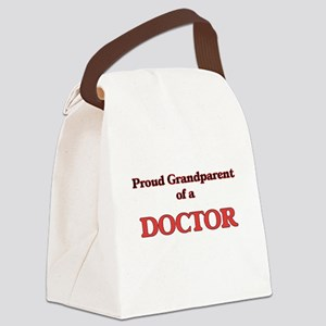 Proud Grandparent of a Doctor Canvas Lunch Bag