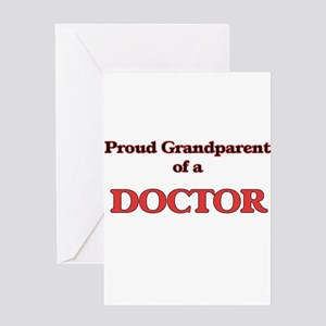 Proud Grandparent of a Doctor Greeting Cards