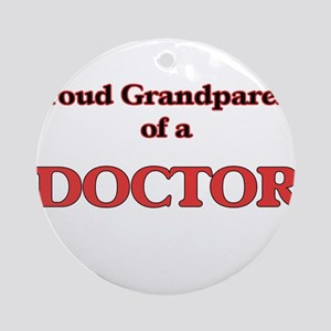 Proud Grandparent of a Doctor Round Ornament
