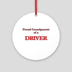 Proud Grandparent of a Driver Round Ornament