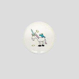 Hoops the Unicorn Mini Button