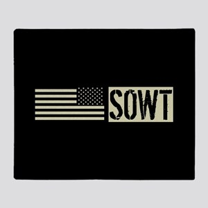 U.S. Air Force: SOWT (Black Flag) Throw Blanket