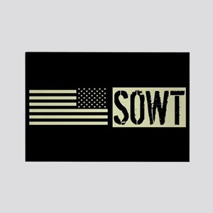 U.S. Air Force: SOWT (Black Flag) Rectangle Magnet