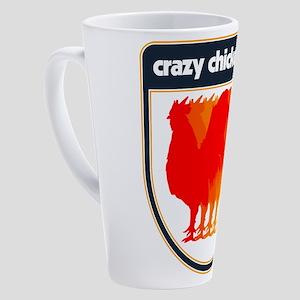 Crazy Chicken Lady 17 oz Latte Mug